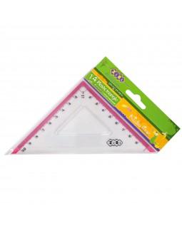 Трикутник 10 см з рожевою смужкою, в блістері