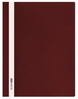 Папка - швидкозшивач з прозорим верхом А4 без перфорації, бордова.