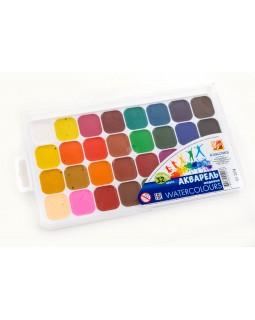 Фарби акварельні медові 32 кольорів, без пензля, пластик «Класика» ТМ Луч, 25С1579-08