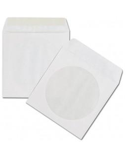 Конверт з віконцем для CD диска, білий