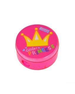 Чинка з контейнером, пластикова, кругла «Little Princess»