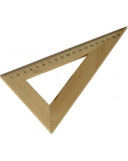 Трикутник дерев'яний 22 см, 60°х90°х30°