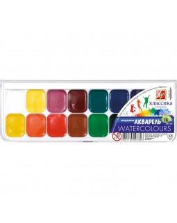 Фарби акварельні медові 16 кольорів, без пензля, пластик «Класика» ТМ Луч, 19С1290-08