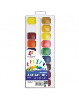 Фарби акварельні медові 18 кольорів, без пензля, пластик «Класика» ТМ Луч, 19С1292-08