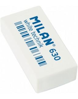 Гумка прямокутна, біла, 3,9 х 1,9 х 0,9 см «White technik» в індивідуальній упаковці, TM MILAN